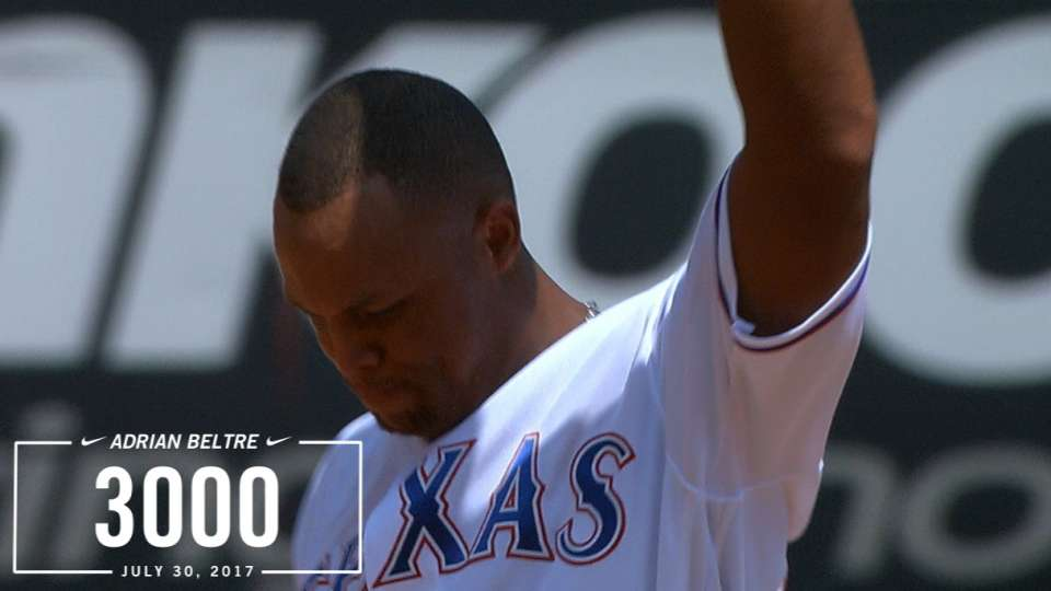 Beltre reaches 3,000 hits
