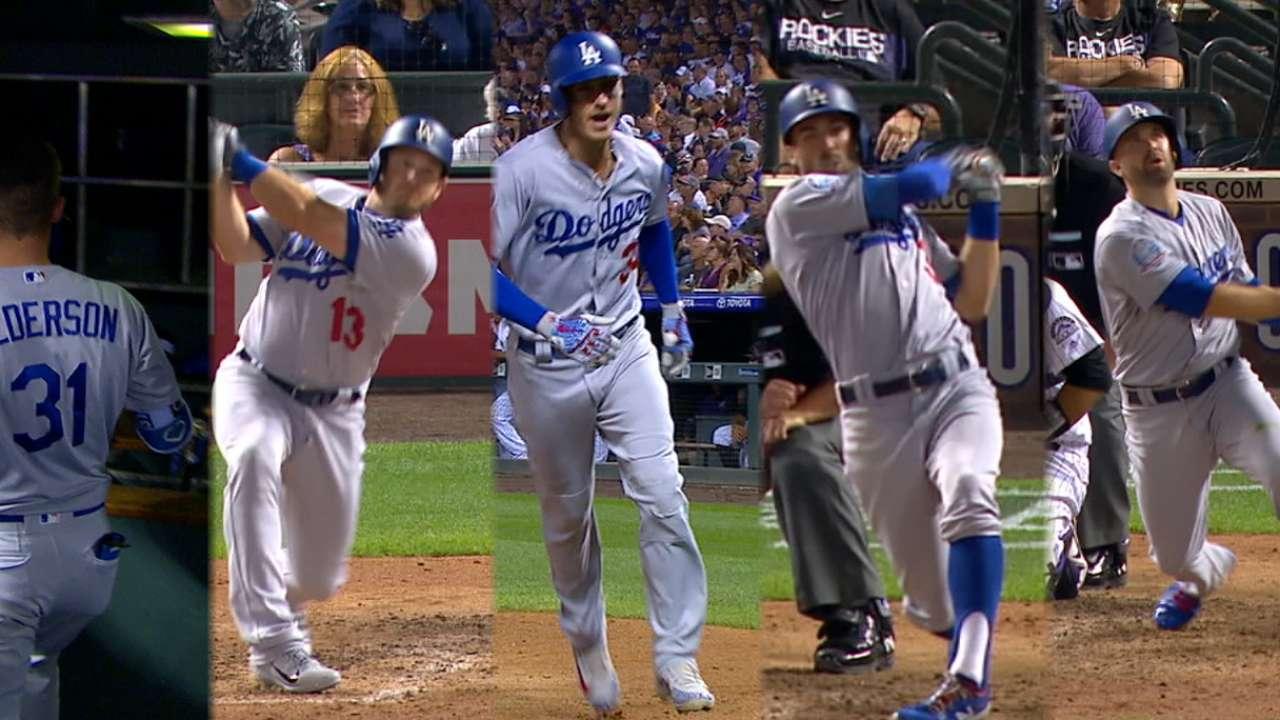 82c03959 Dodgers hit five home runs in win over Rockies   Oakland Athletics