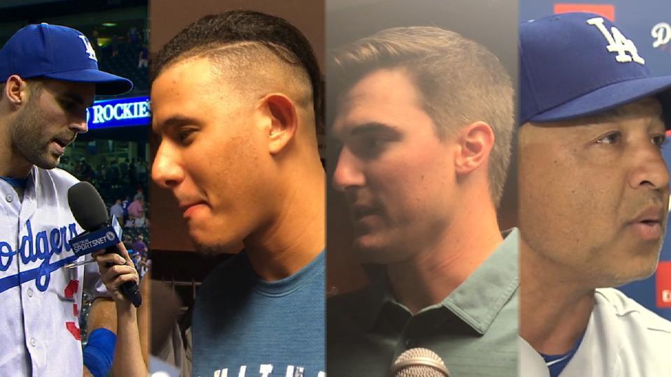 Dodgers talk 8-5 win in Colorado