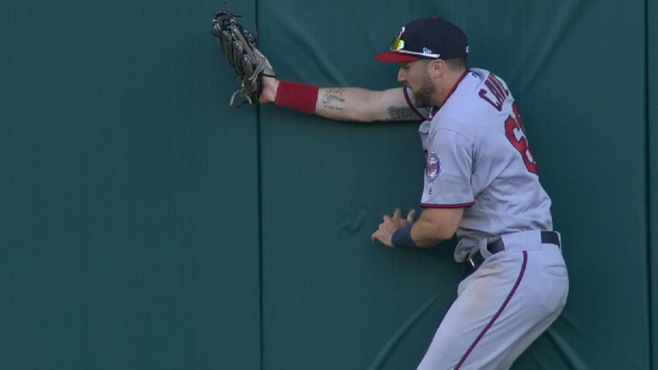 Cave's great running catch