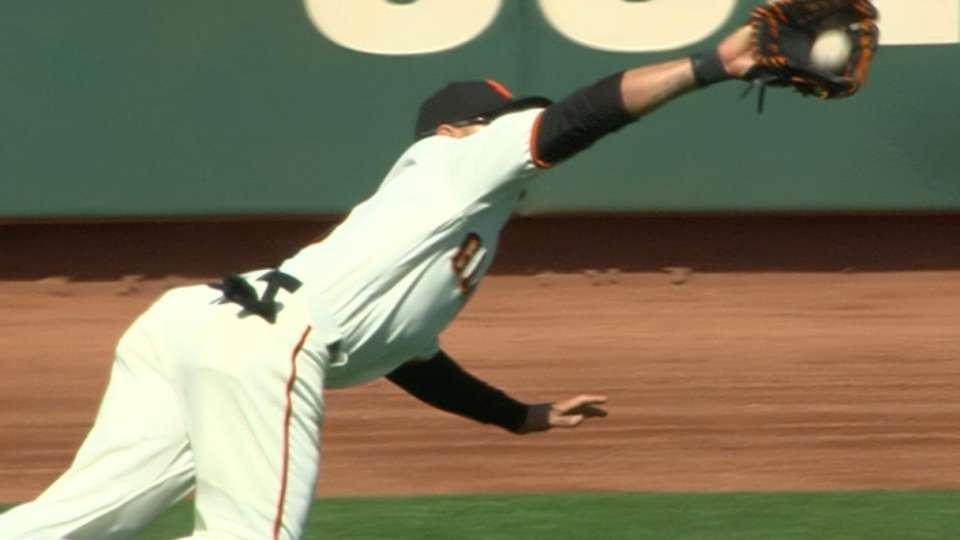 Blanco's diving catch