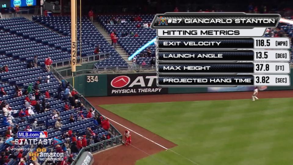 Statcast on Stanton's laser shot