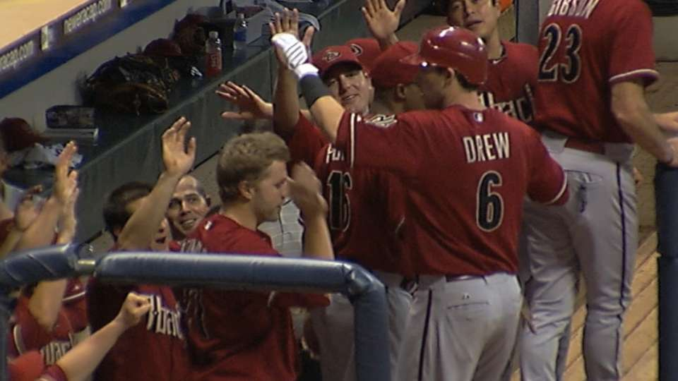 D-backs' four straight homers