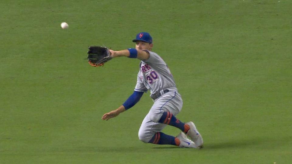 Conforto's sliding catch in left