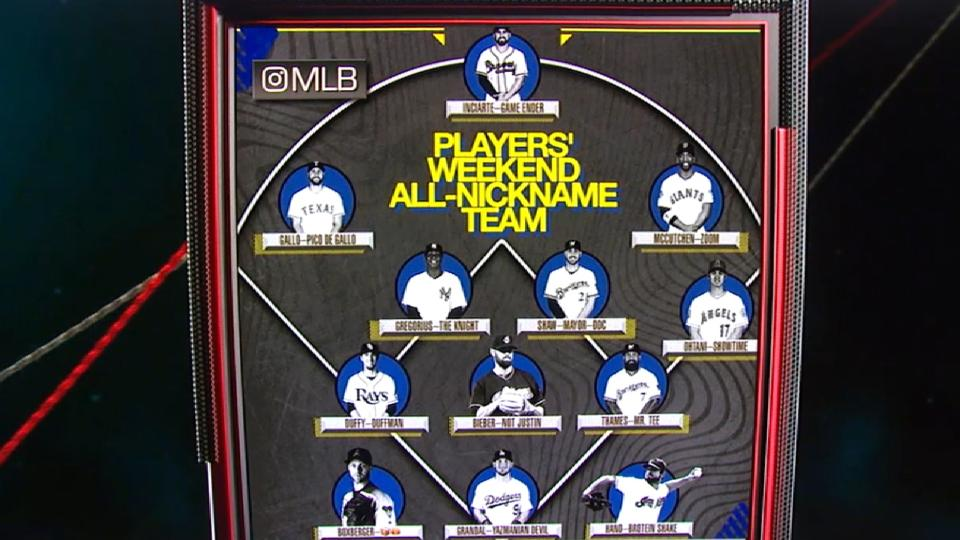 Players' Weekend Nicknames