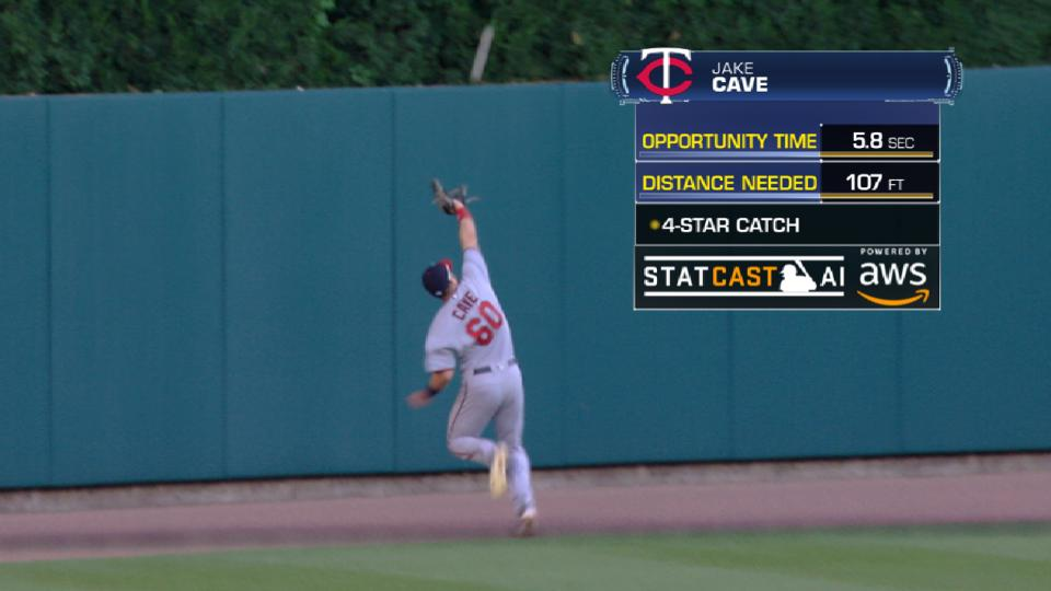 Statcast: Cave's running grab