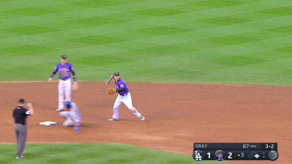 Rox turn double play in the 3rd