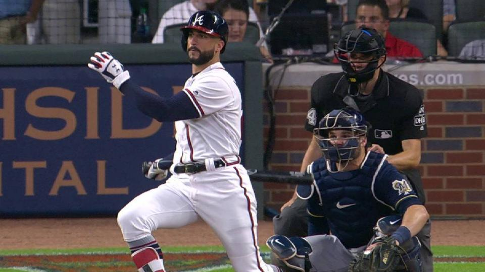 Markakis' RBI double in the 6th