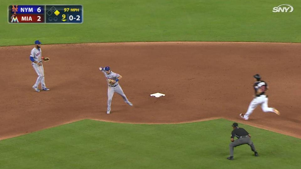 Smith, McNeil turn a double play