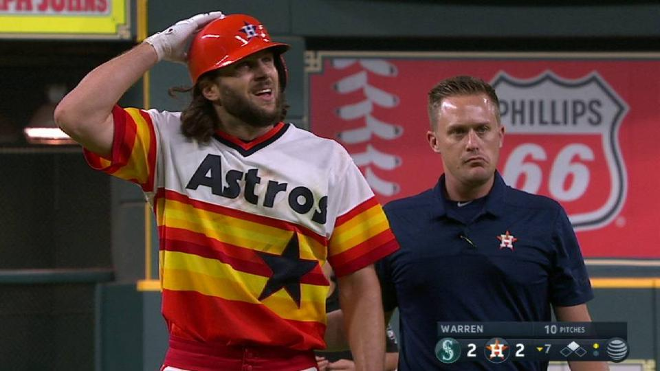 Marisnick doubles, leaves game
