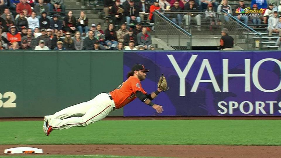 Crawford's diving catch