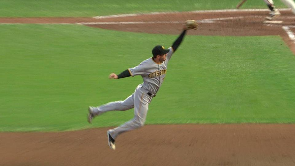 Freese's leaping grab