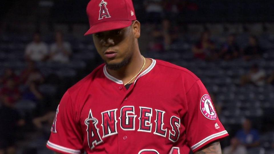 Pena strands 2 with strikeout