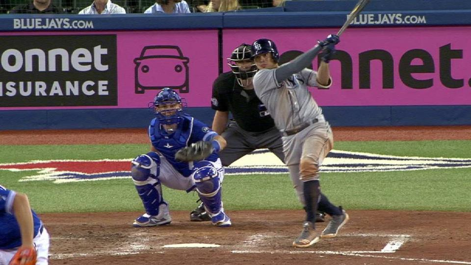 Adames records 3rd hit of night