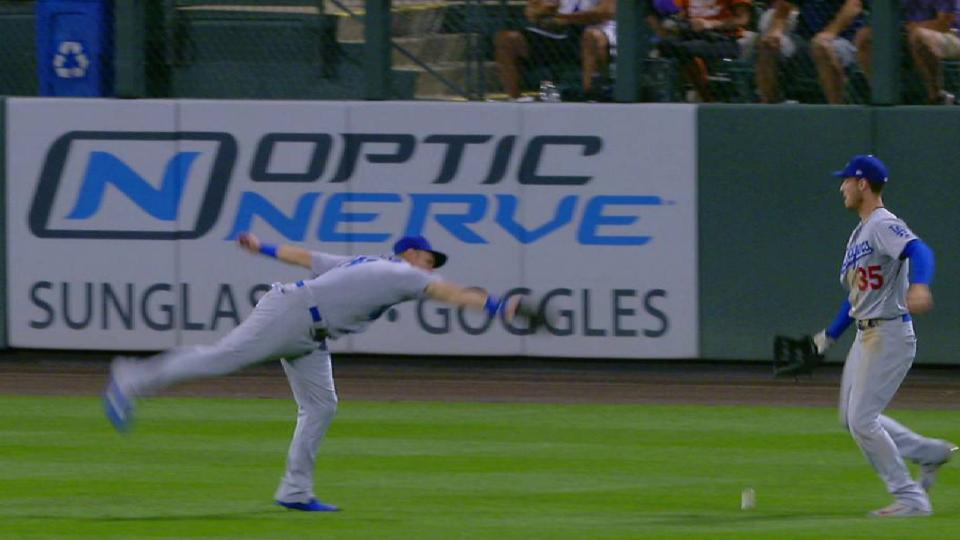 Dodgers' outfield let ball drop