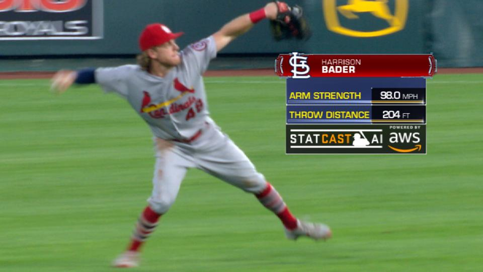 Statcast: Bader prevents a run