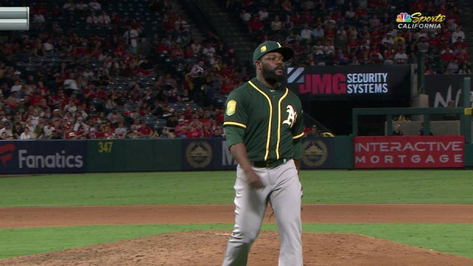 Rodney's clean debut with A's
