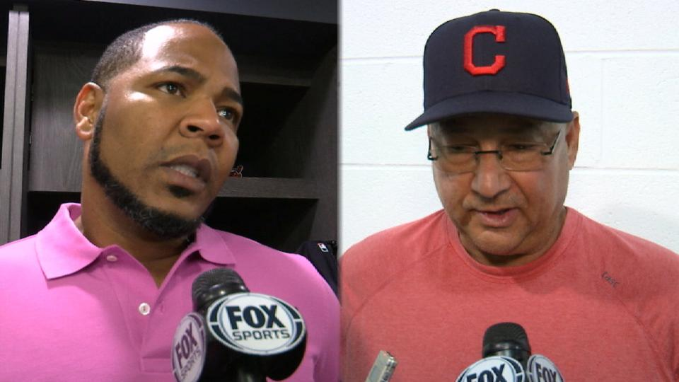 Encarnacion, Francona on injury