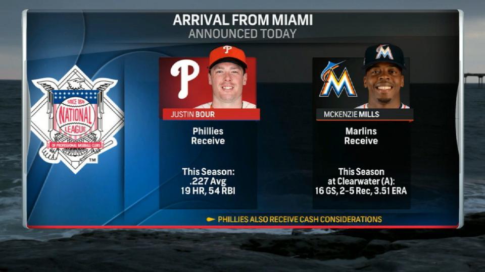 Phillies acquire Justin Bour
