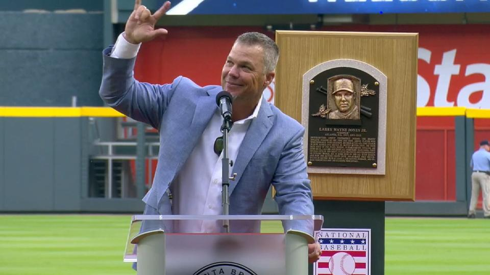 Chipper honored with HOF plaque