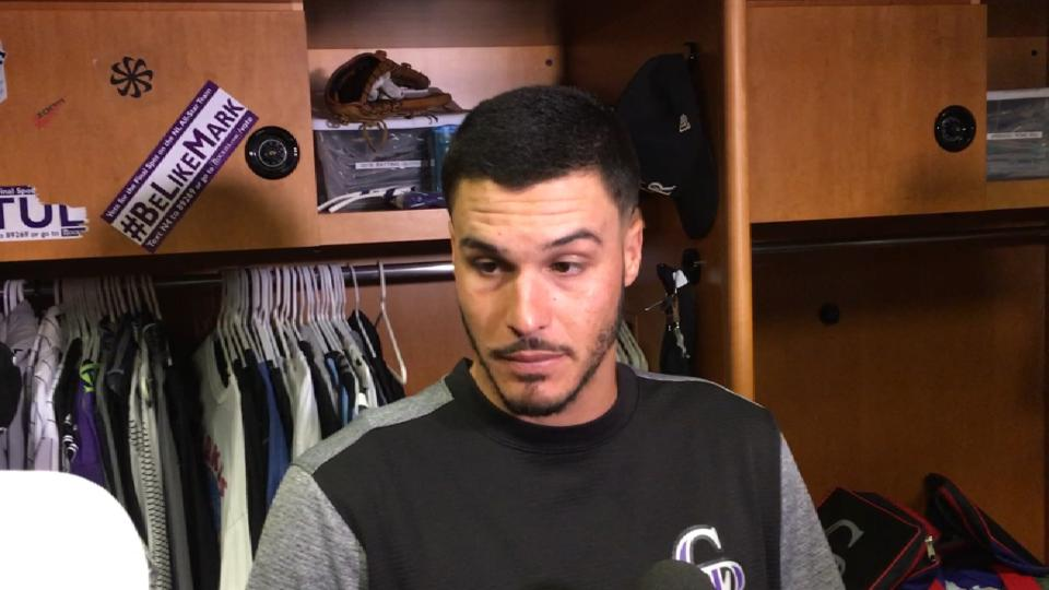 Arenado on shoulder injury