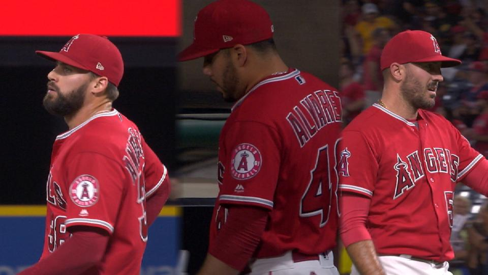 Angels use 3 pitchers in the 9th