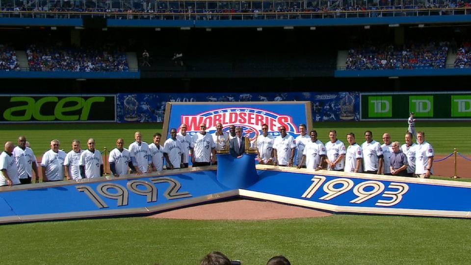 Blue Jays honor WS teams