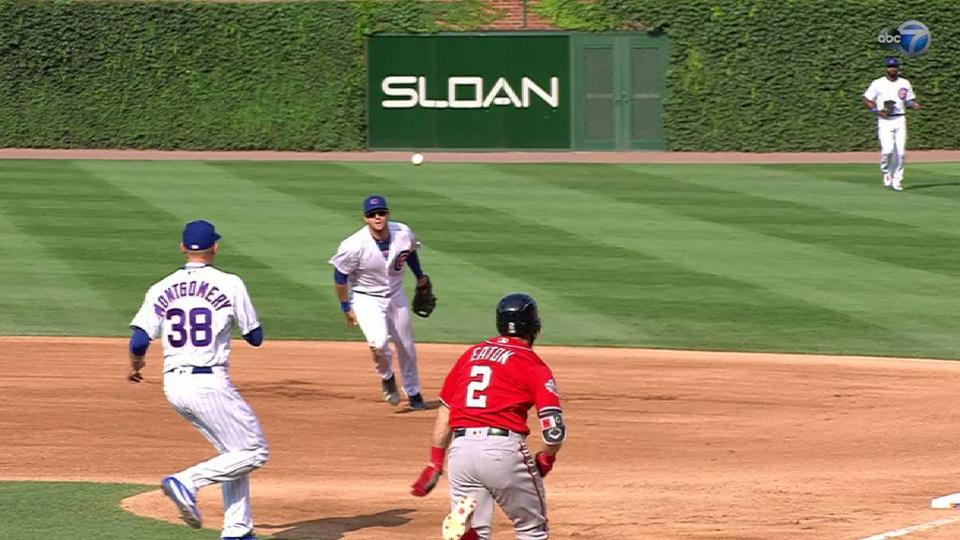 Bote's sliding stop at first