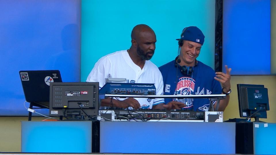 Devon White shows off DJ skills