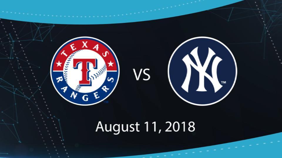 8/11/18: TEX vs. NYY Highlights