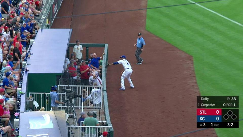 Escobar's grab near the railing