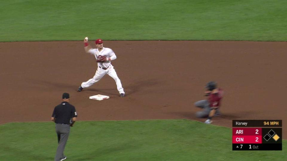 Harvey coaxes clutch double play