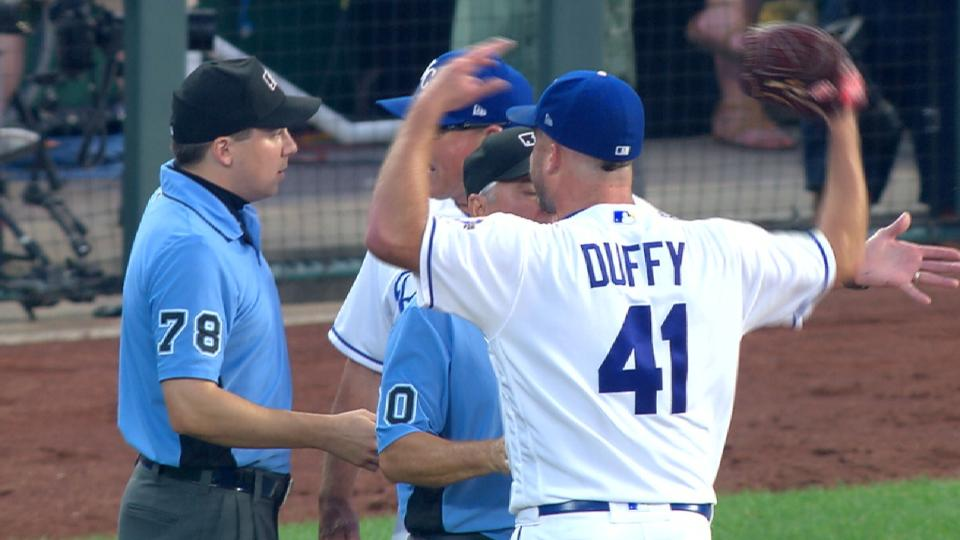 Duffy ejected in the 6th inning