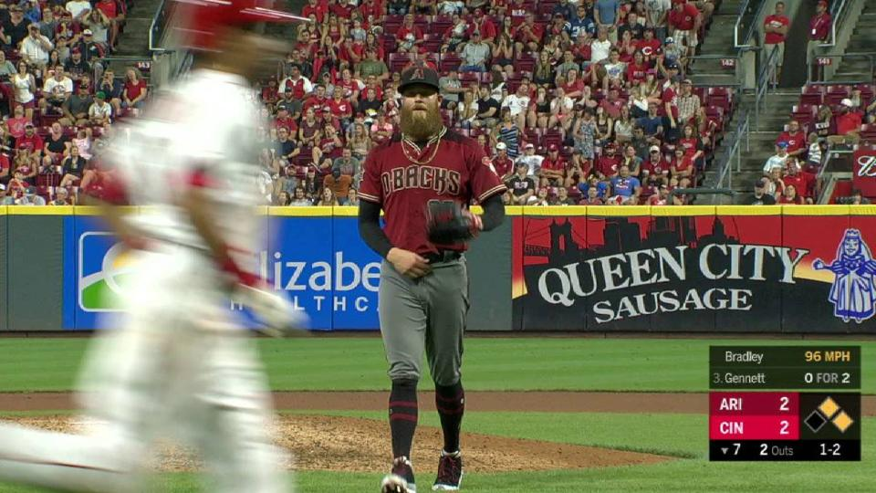 Bradley closes out 7th inning