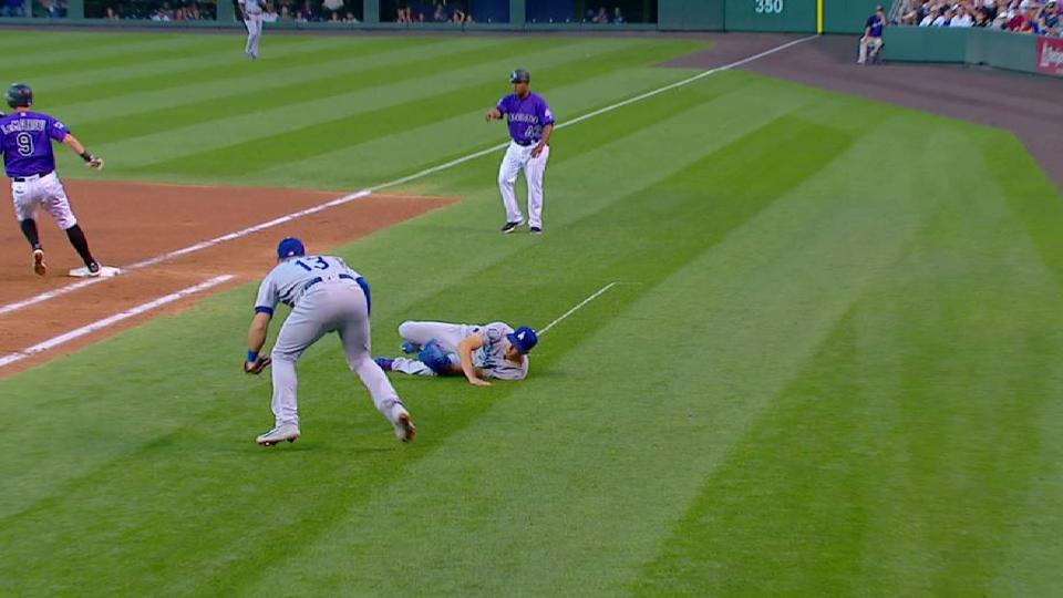 Buehler stays in after collision