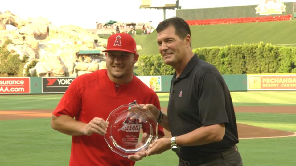 Trout wins Heart and Hustle