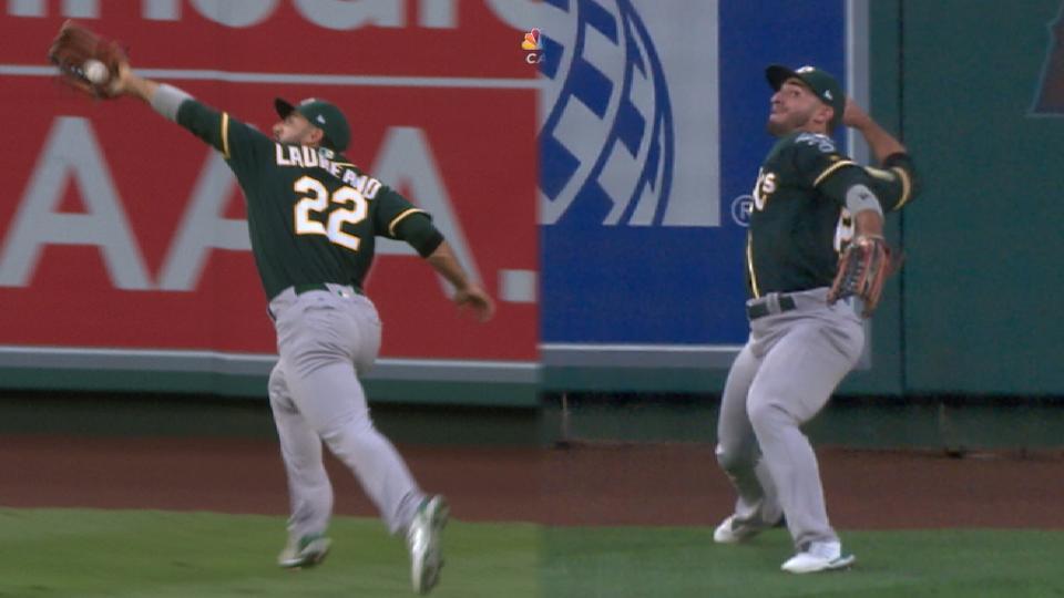 Laureano's epic double play