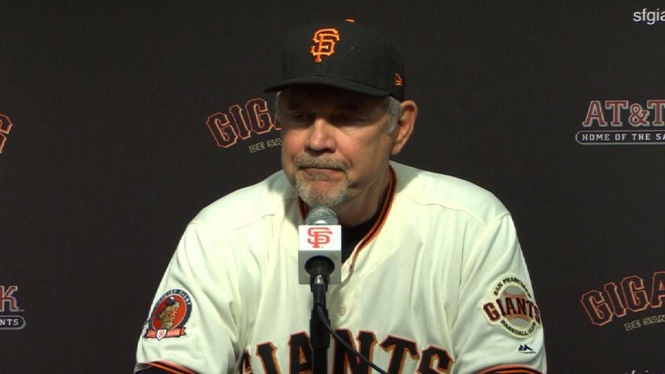 Bochy on 4-0 loss to Pirates