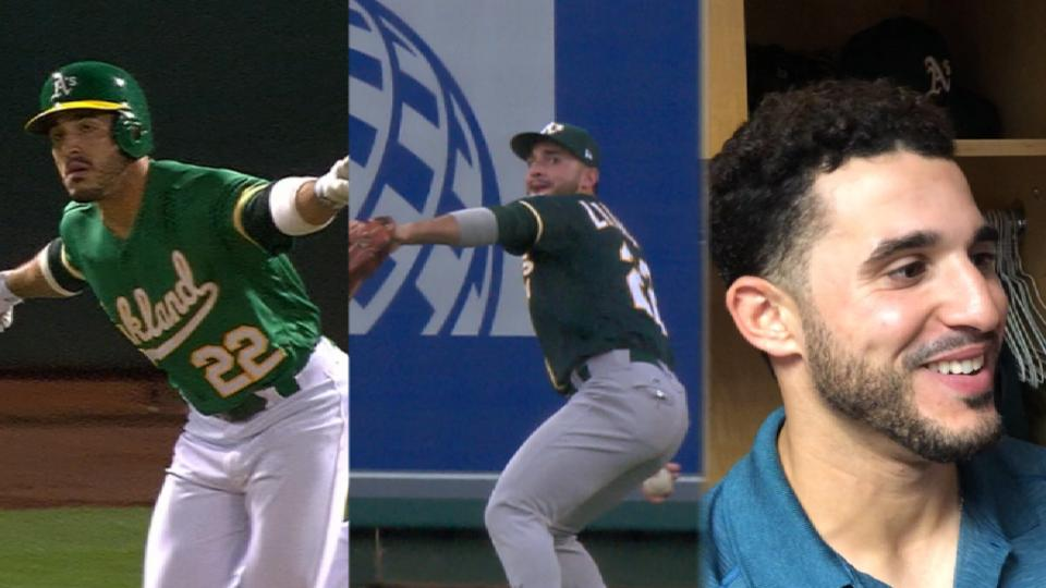 Laureano's epic 1st week in MLB