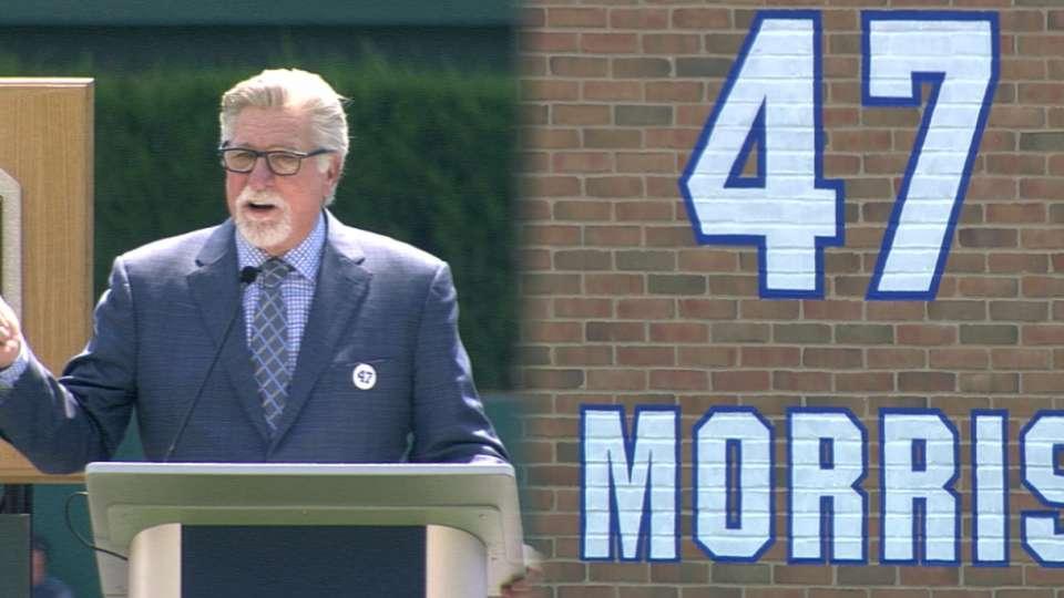 Tigers retire Morris' No. 47