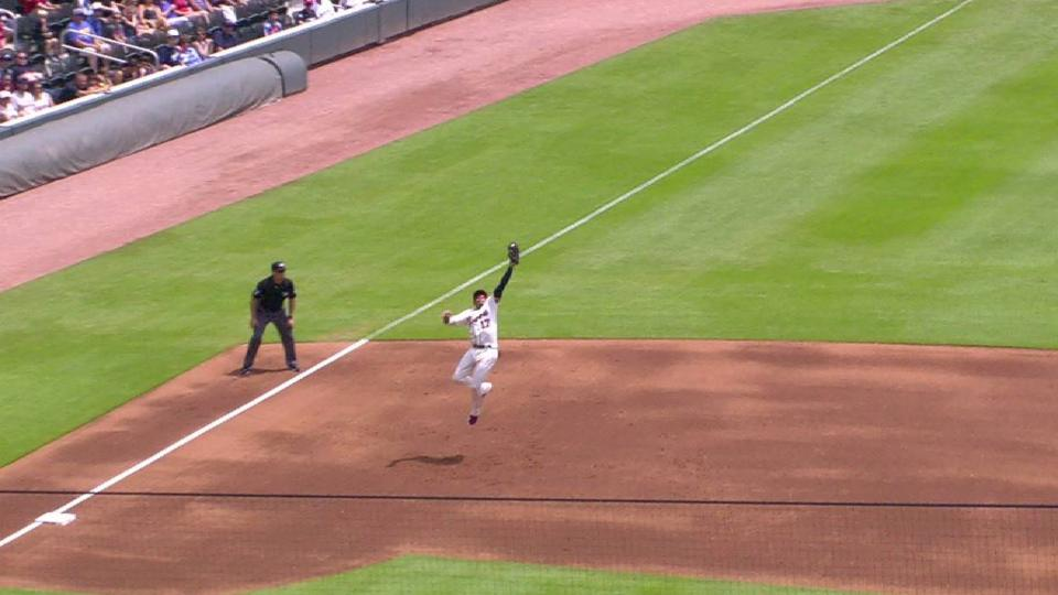 Camargo's smooth leaping catch
