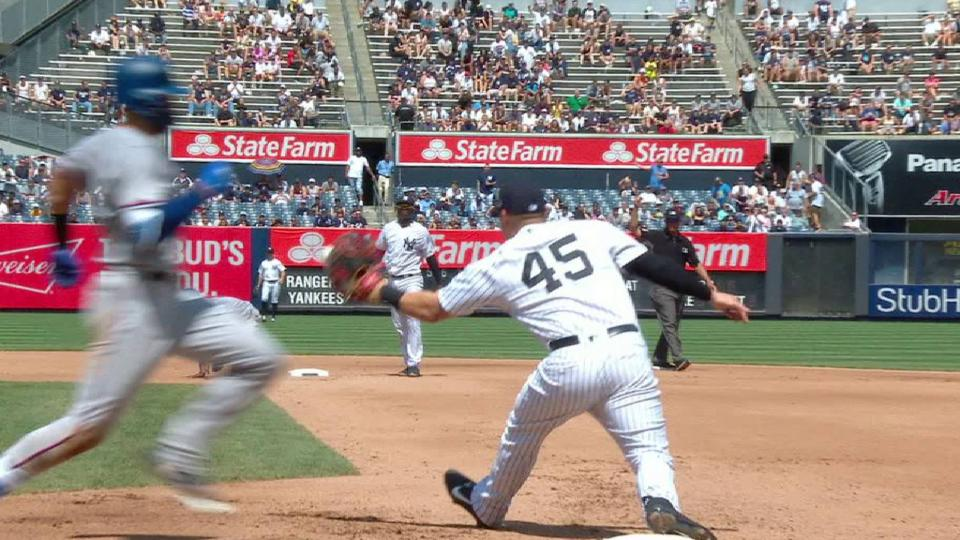 Voit starts and ends double play