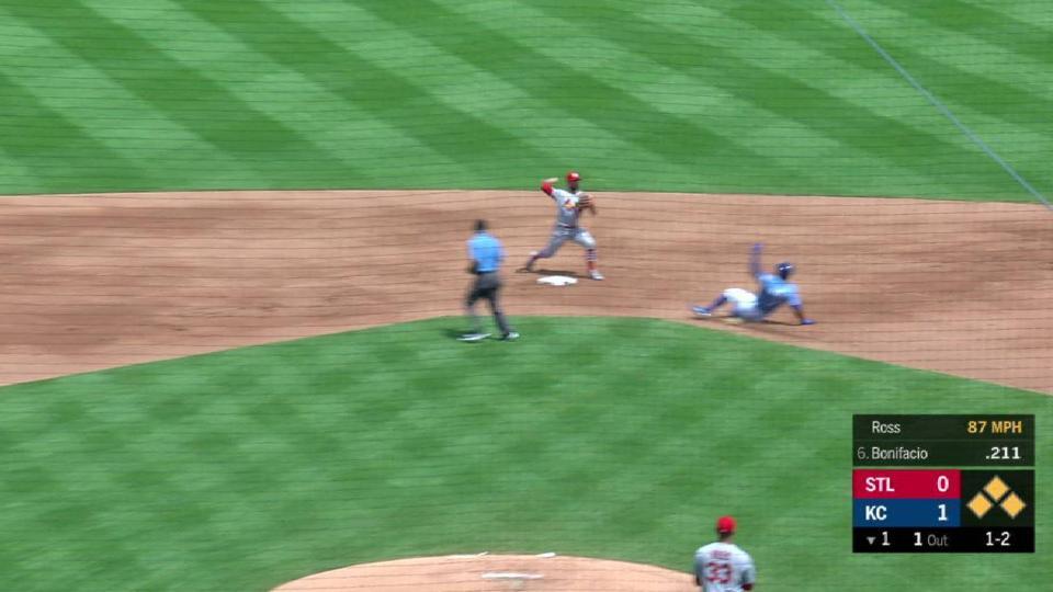 Gyorko starts inning-ending DP