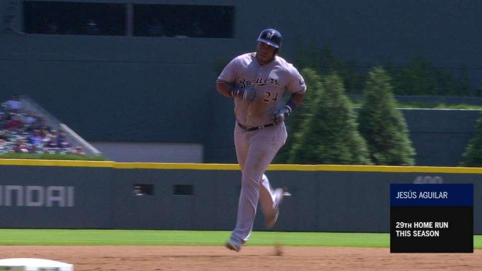 Aguilar's 3-run dinger