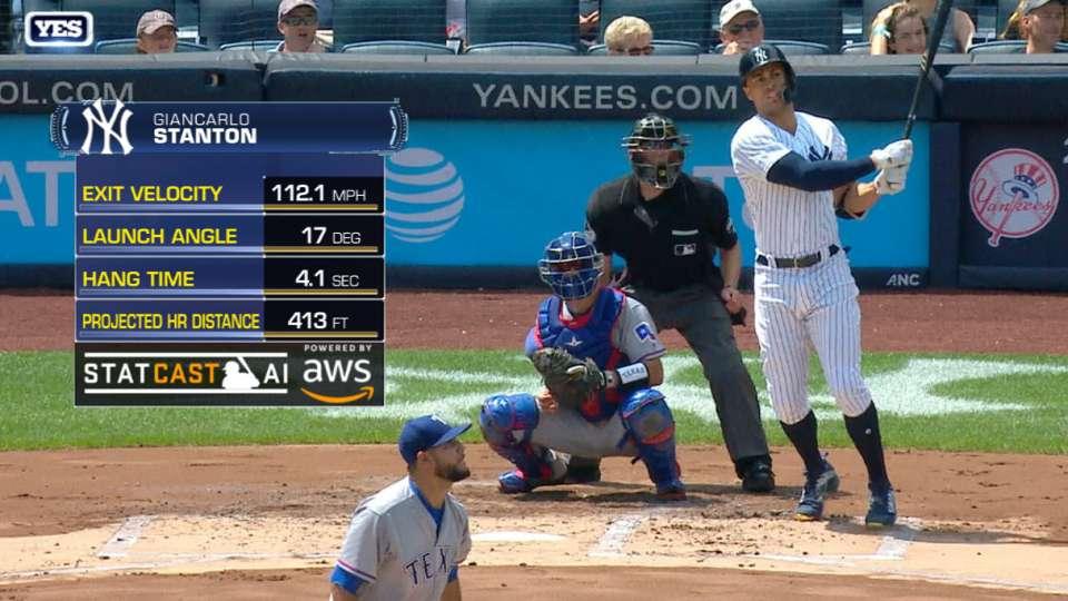 Statcast: Stanton's 112.1-mph HR