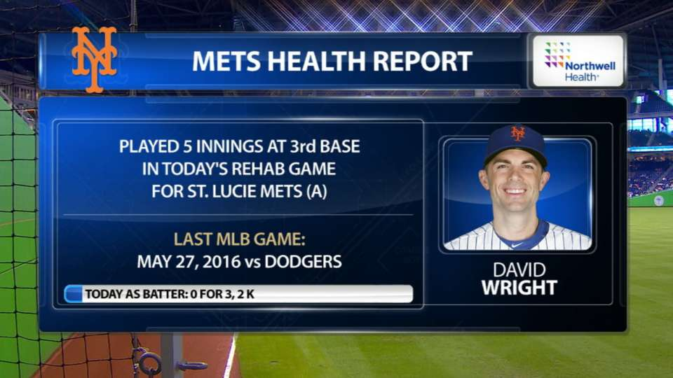 Wright makes rehab appearance