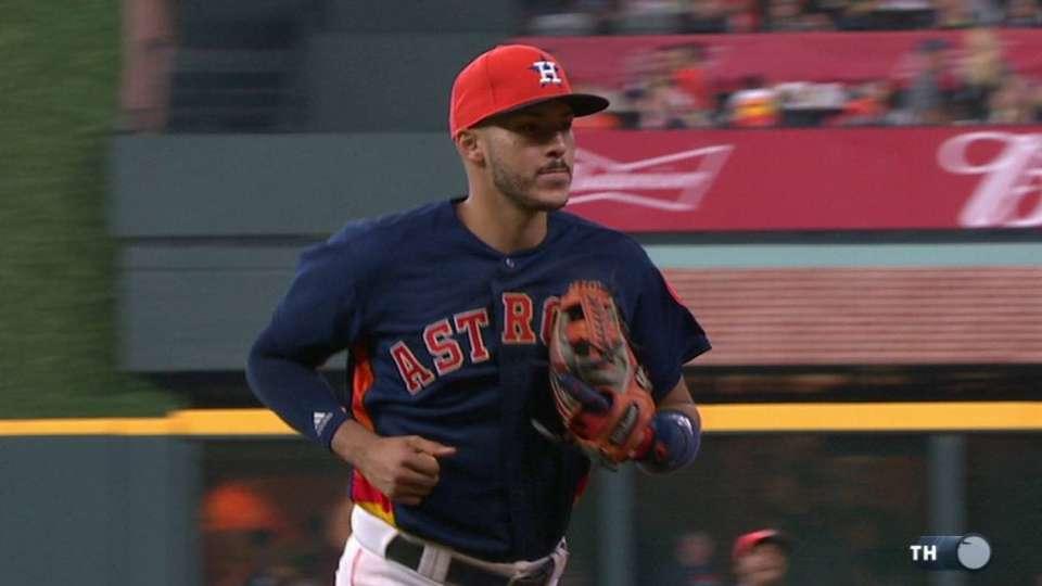 Correa starts a double play