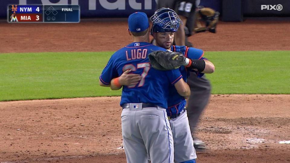 Lugo's 1st MLB save