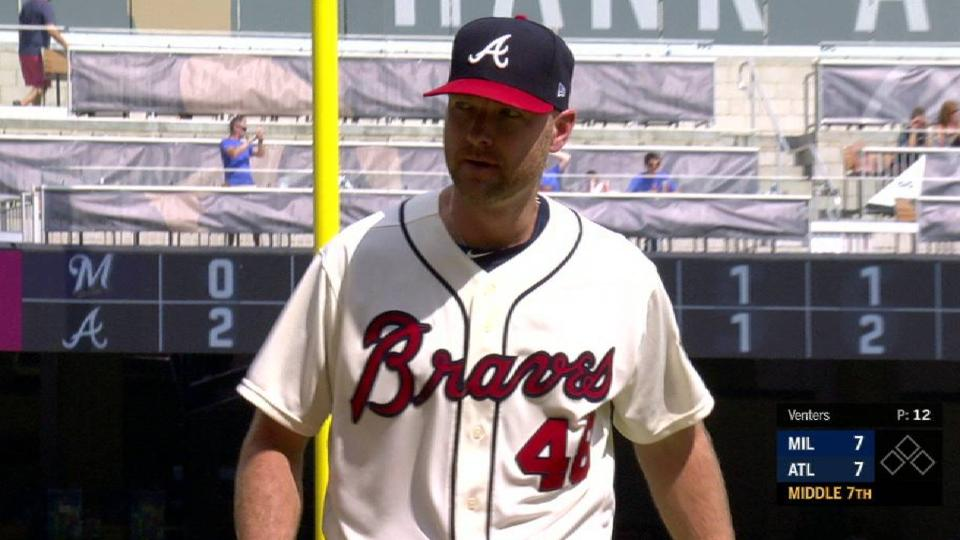 Venters induces key double play