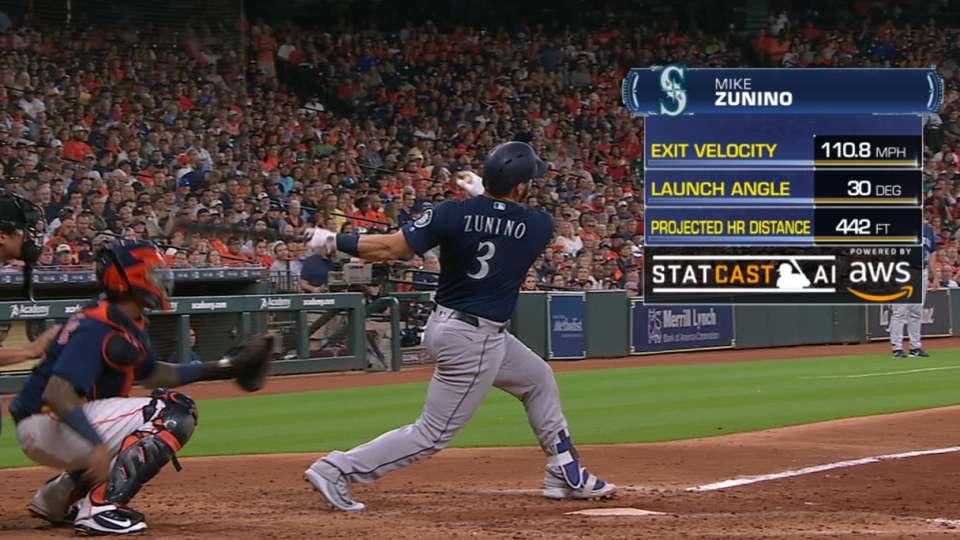 Statcast: Zunino's 442-ft. blast